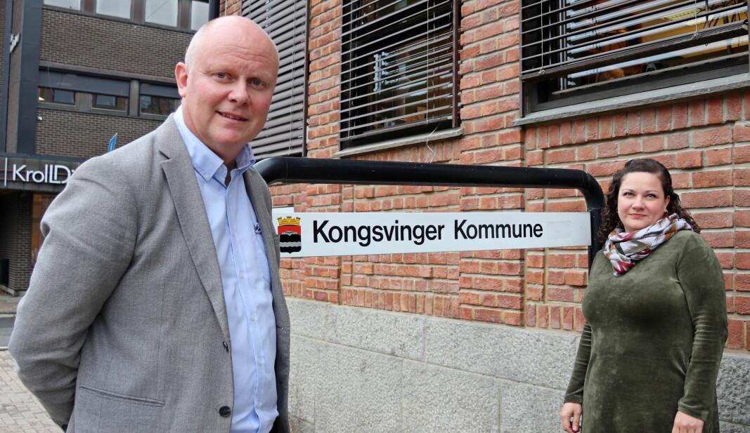 Rådmann Lars Andreas Uglem og ordfører Margrethe Haarr