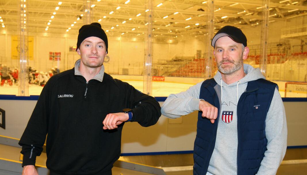 Preben Birkeflot (t.v.) er tilbake i Kongsvinger-drakta. Sportslig leder Anders Angelbrant sier dette er en god signering.