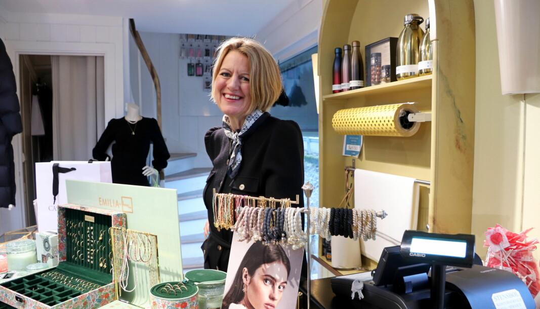 Pia Lena Bakli er daglig leder i motebutikken Casa Blanca på Kongsvinger.