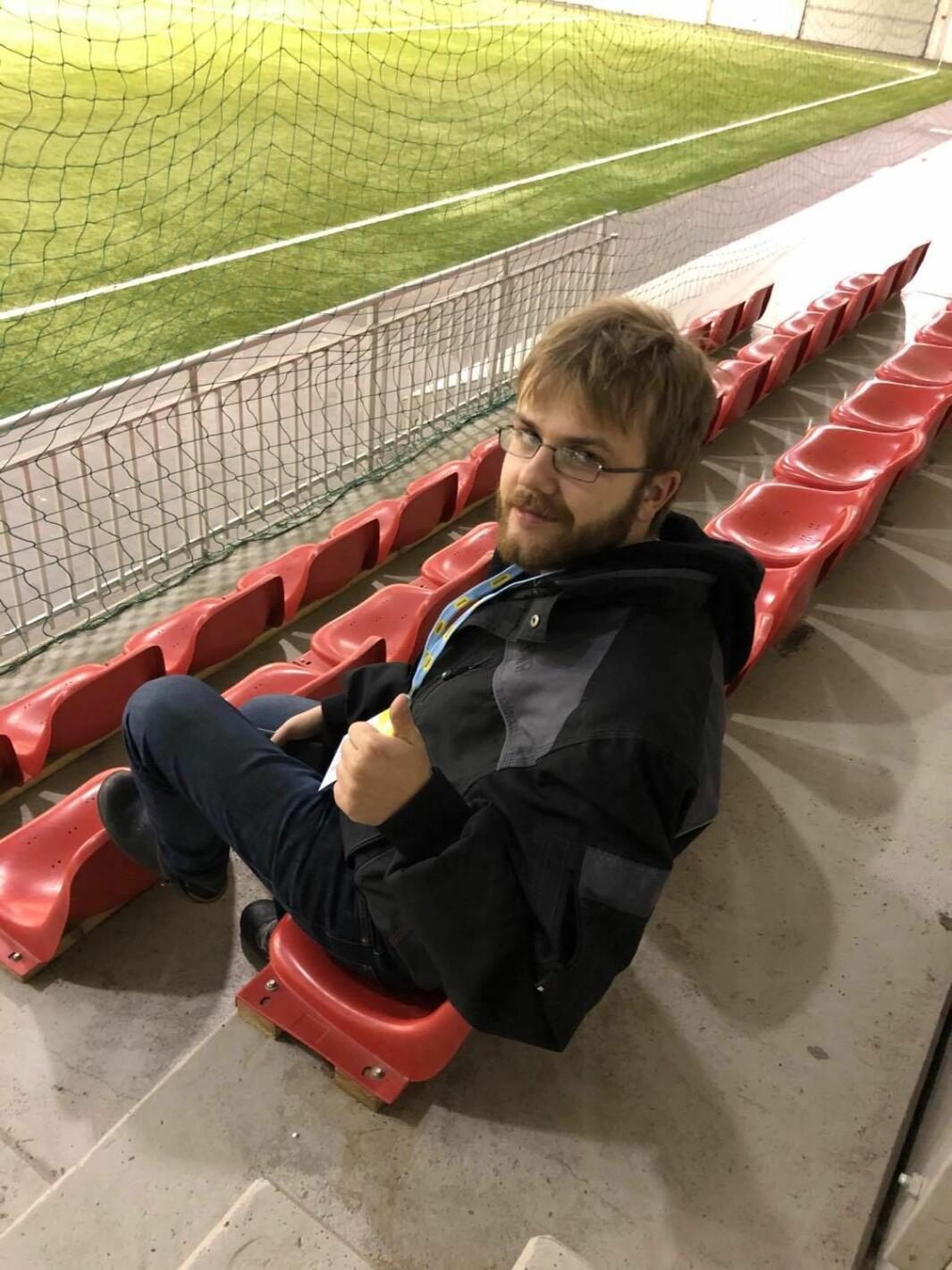 Hans Christian Sjøli er i Bergen for å heie frem KIL.