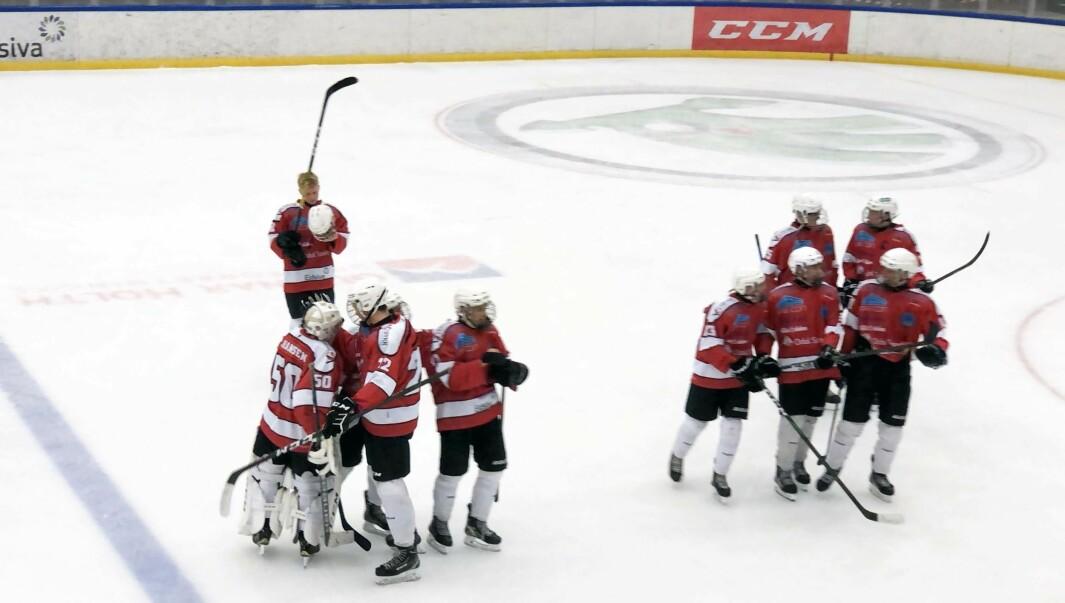 Kongsvinger U18 kunne juble etter å ha vunnet 4-1 over Frisk Asker.