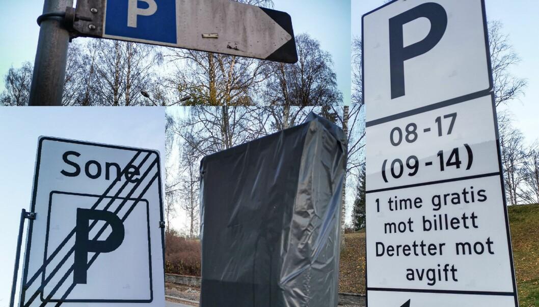 Det er ikke like lett å forstå skiltingen i Kongsvinger - og alt er heller ikke etter forskriften.