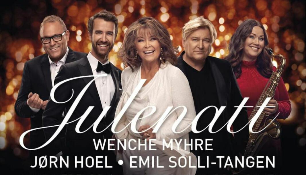 """Konsertene med blant andre Wenche Myhre, Jørn Hoel og Emil Solli-Tangen i Vinger kirke 5. desember er avlyst - i likhet med resten av konsertene til """"Julenatt"""" i hele landet."""