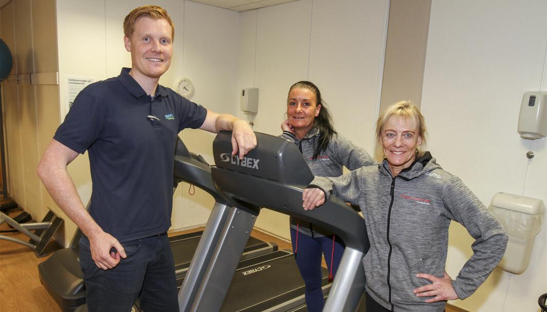 Magnus Bergersen (t.v.), Stine Andreassen og Anne Mette Holtmon har etablert nytt selskap sammen med Stine Solberg Buvarp, og har overtatt driften av Avencia Sport Club.