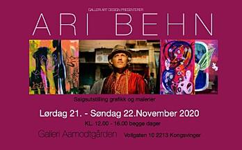 Inviterer til en fargerik og minneverdig utstilling i Ari Behns ære