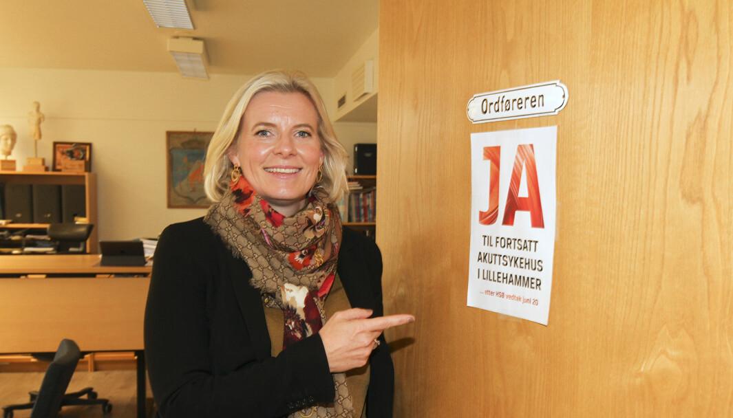 Å bevare sykehuset på Lillehammer som akuttsykehus, er en kampsak for Ingunn Trosholmen. – Og det er jeg sikker på at vi skal klare, sier hun.