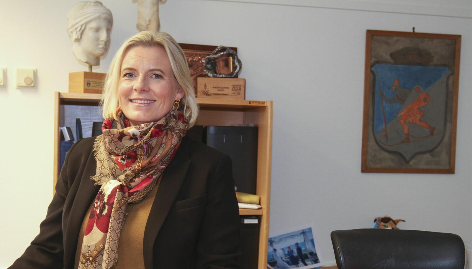 Ingunn Trosholmen rykket opp fra varaordfører til ordfører etter valget i fjor høst. – Jeg har lagt bak meg et spesielt år i ordførerstolen, sier hun.