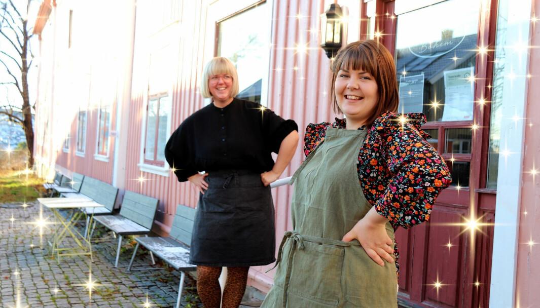 Mari Søbye Østlid (t.h.) og Toril Ramstad i Kafe Bohem.