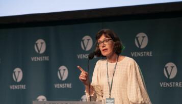 Inger Noer, her avbildet under Venstres landsturemøte, hvor hun ble direktevalgt landsstyremedlem