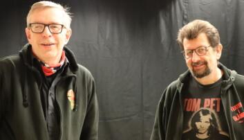 Øivind Roos (t.v.) og Lars Ovlien er initiativtakere til Juleallsang fra Vinger kirke.