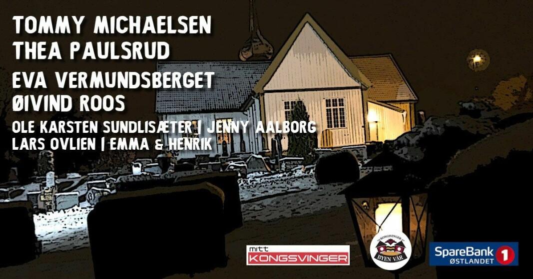 Søndag blir det Juleallsang fra Vinger kirke og direkte hjem til deg.