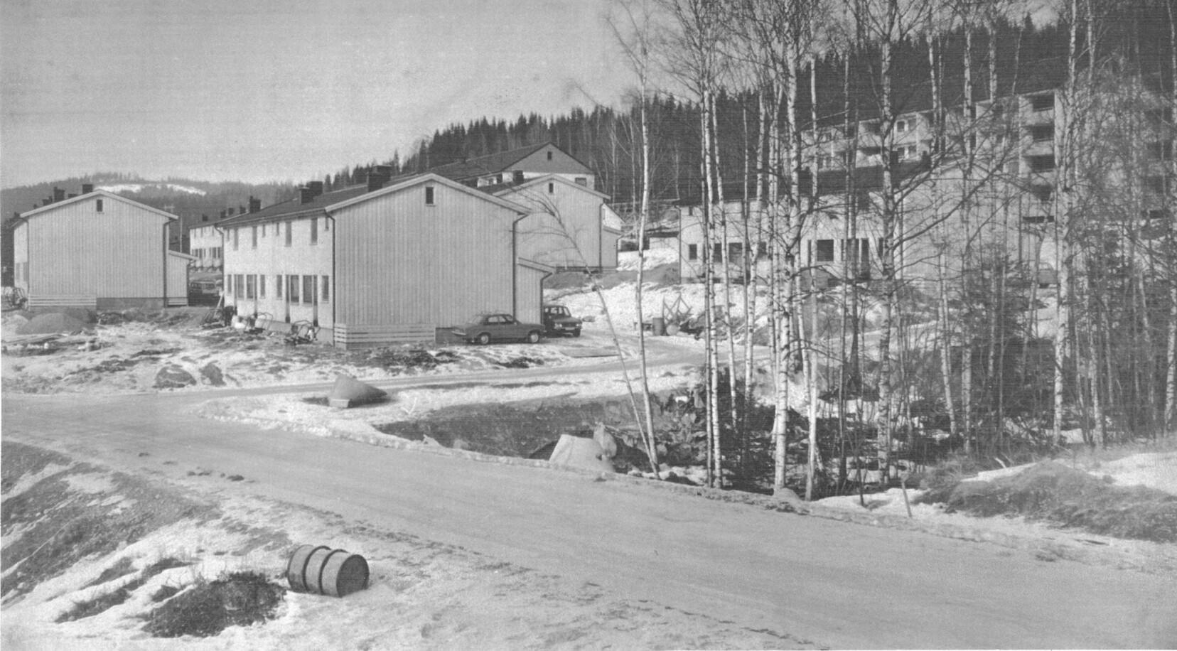 Rekkehusene på Vangen kom under de aktive 1970-årene.