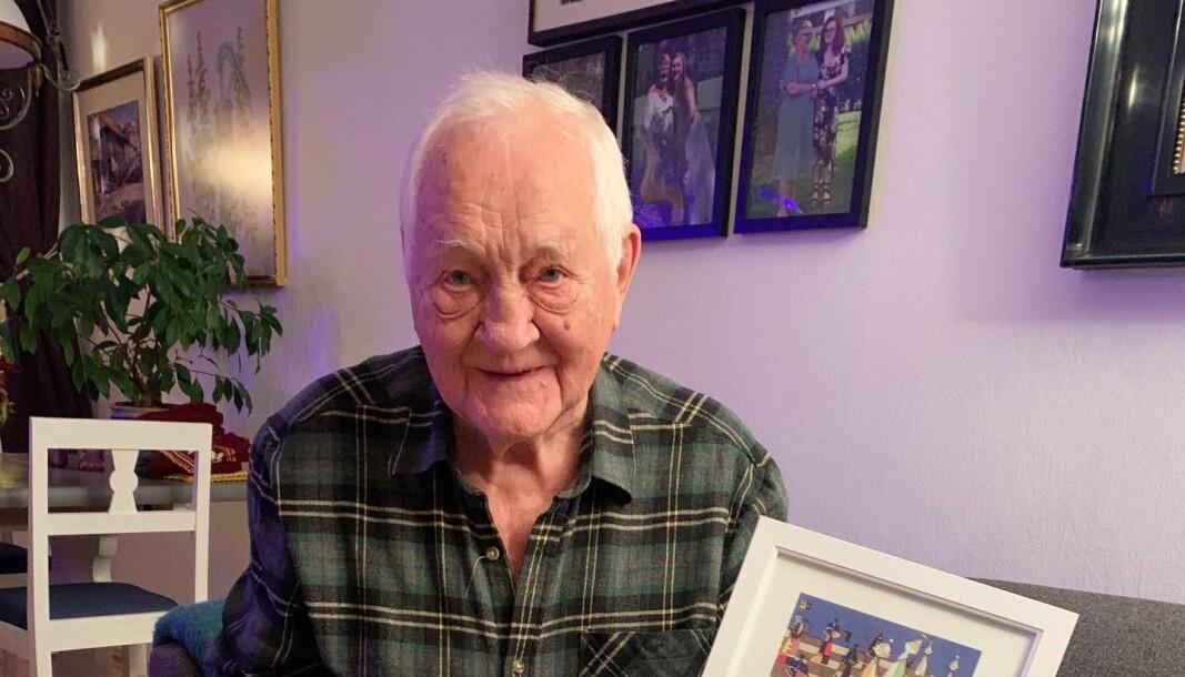 Klaus Smedtorp har spilt sjakk i 70 år og var med på å gjenstarte Kongsvinger Sjakklubb.