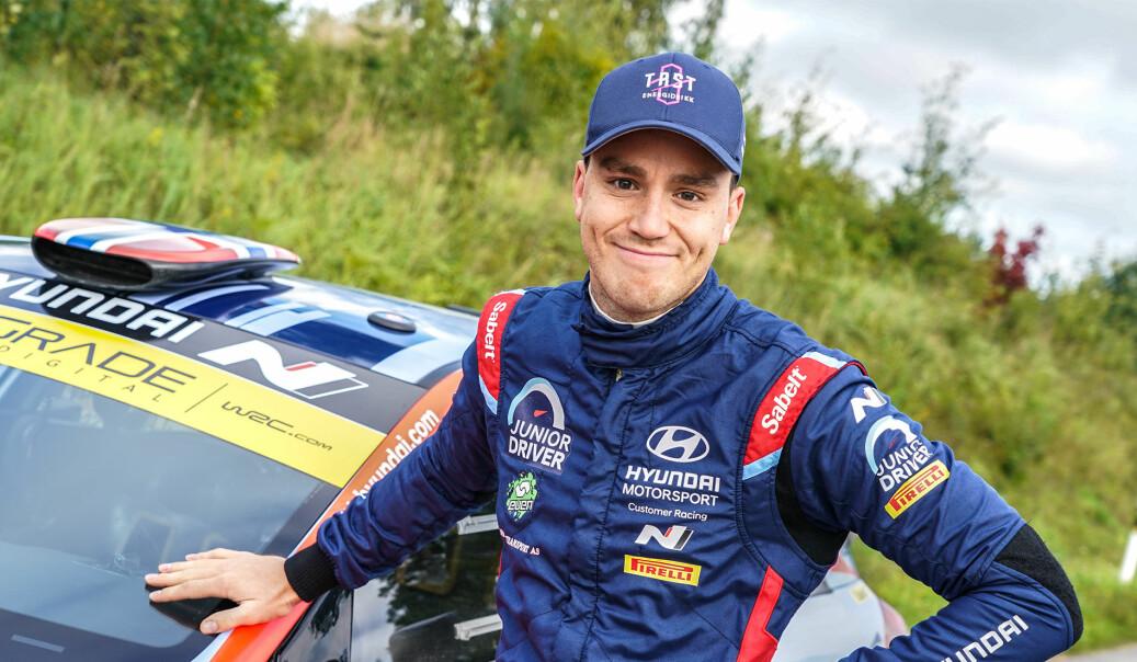 Ole Christian Veiby sikret seg NM-sølv etter å ha vunnet rally Hedemarken.
