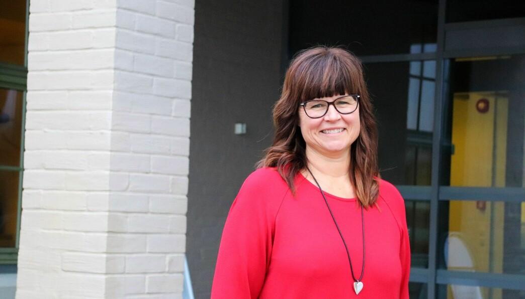 Rektor ved Sentrum videregående skole, Marianne Bye, har grunn til å smile etter at tallene for skolebidragsindikatoren 2019/20 er lagt frem.