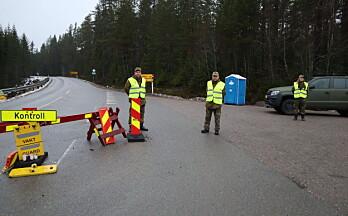 Foreløpig ikke koronatesting på E16 ved svenskegrensa
