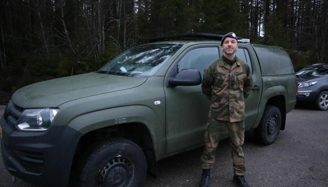 Operativ ansvarlig og områdesersjant Ole Petter Vibekken er ute for å følge opp patruljer på grensen.
