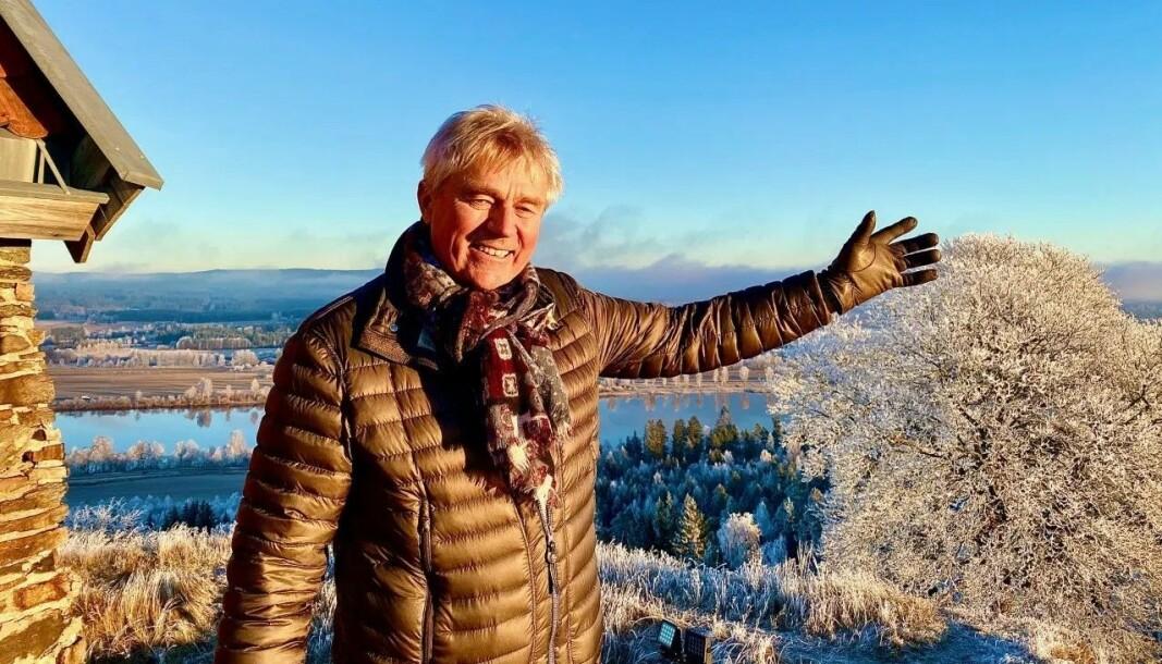 Festningsforvalter Jonny Oskar Fjeld er en entusiastisk kar