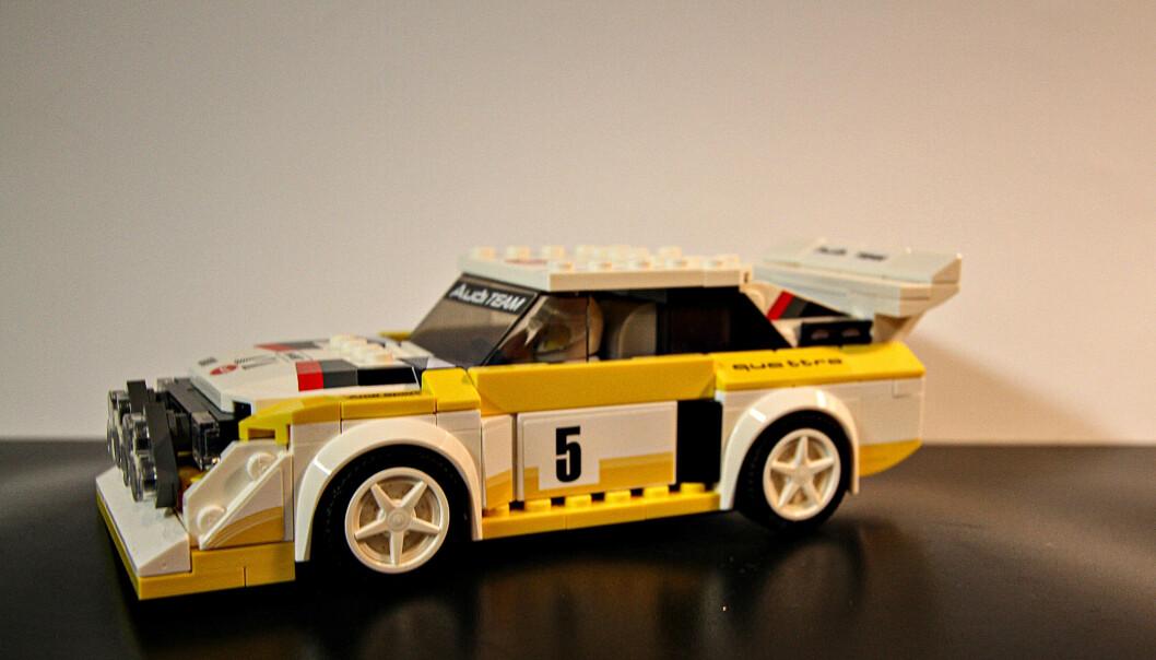 Den første modellen Erik Øverby bygde av de mer kompliserte Lego-settene var naturlig nok en Audi.