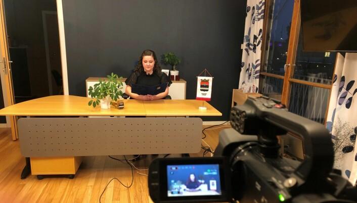 Ordfører Margrethe Haarr holder nyttårstale på Mitt Kongsvinger.
