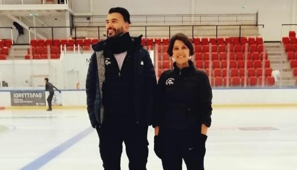 Kunstløpklubben i Kongsvinger gjorde ikke bare én, men to forsterkninger i sommer. Da kom både Ishkahn Kirakosian og Gina Mead til byen.
