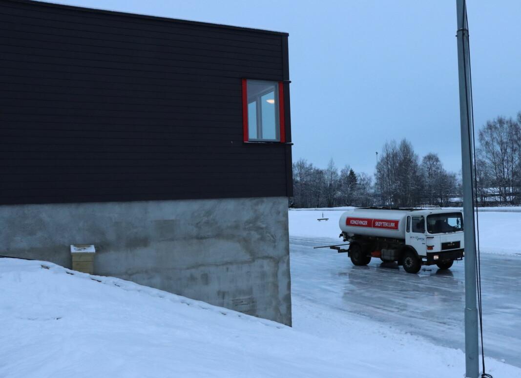 Den nye bua er over to etasjer og på samme sted som den gamle.