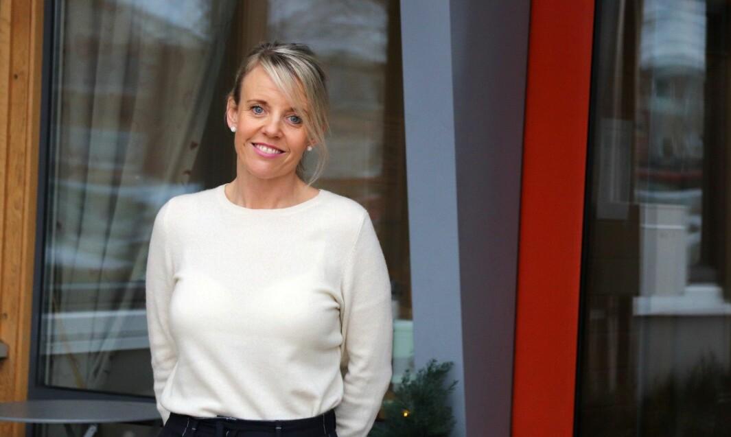 Enhetsleder Renate Mikkelsen for Langelandhjemmet og Skyrud demenssenter. Kongsvinger kommune tilrettelegger og tilbyr digitale møter for pårørende og pasienter.