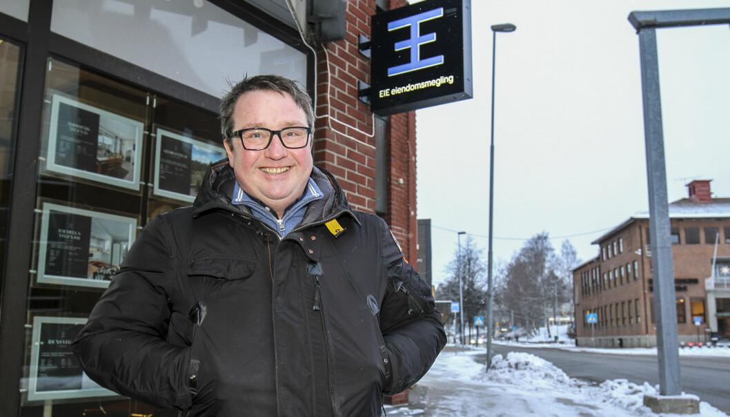 Jo Heiki Støve i Eie eiendomsmegling er strålende fornøyd med hvordan de landet det vanskelige og utfordrende året 2020.