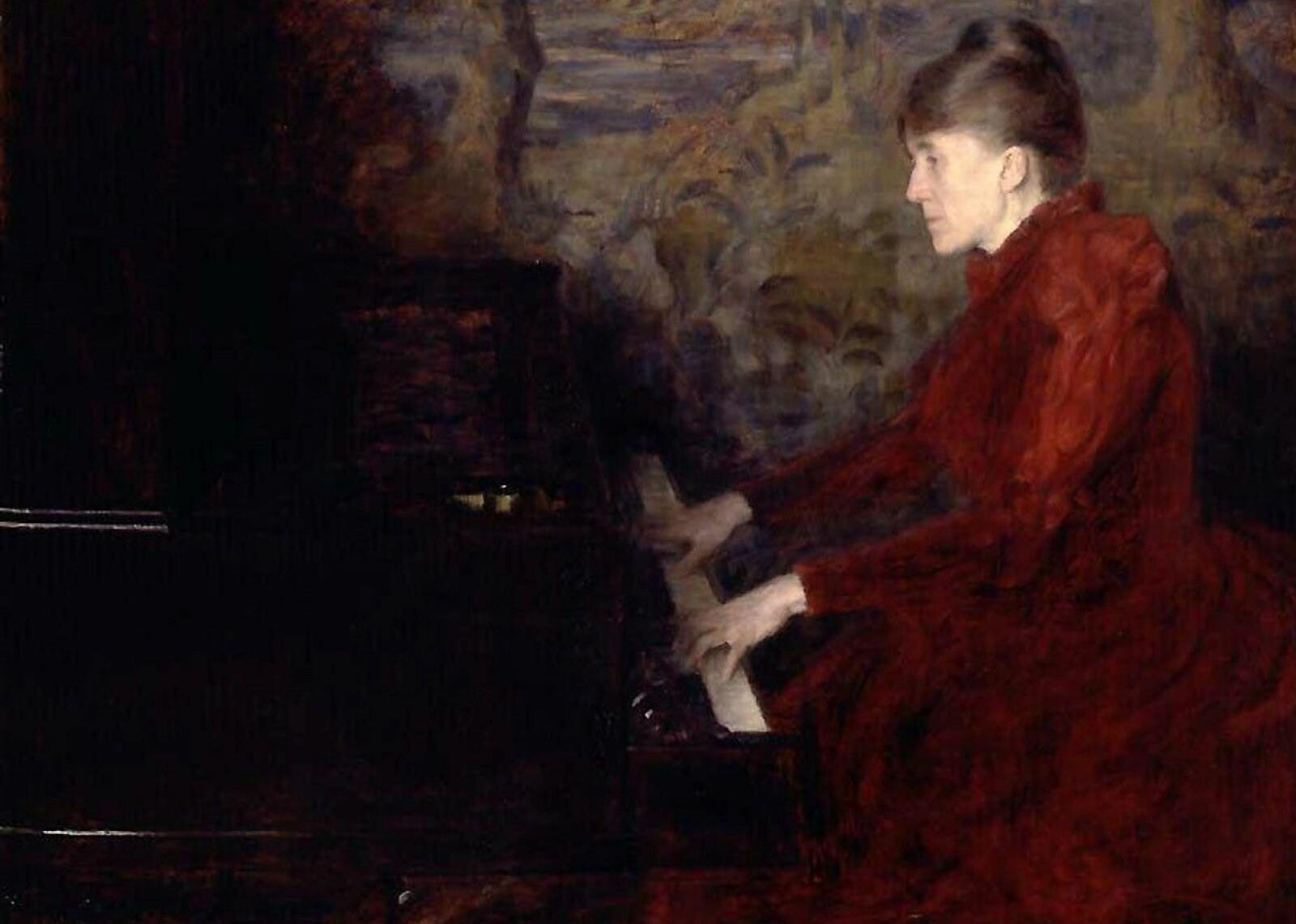 Erika Nissen malt av Erik Werenskiold i 1892.