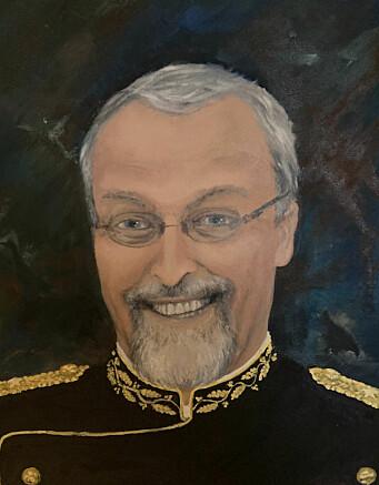 Maleri av politimester Knut Holen.
