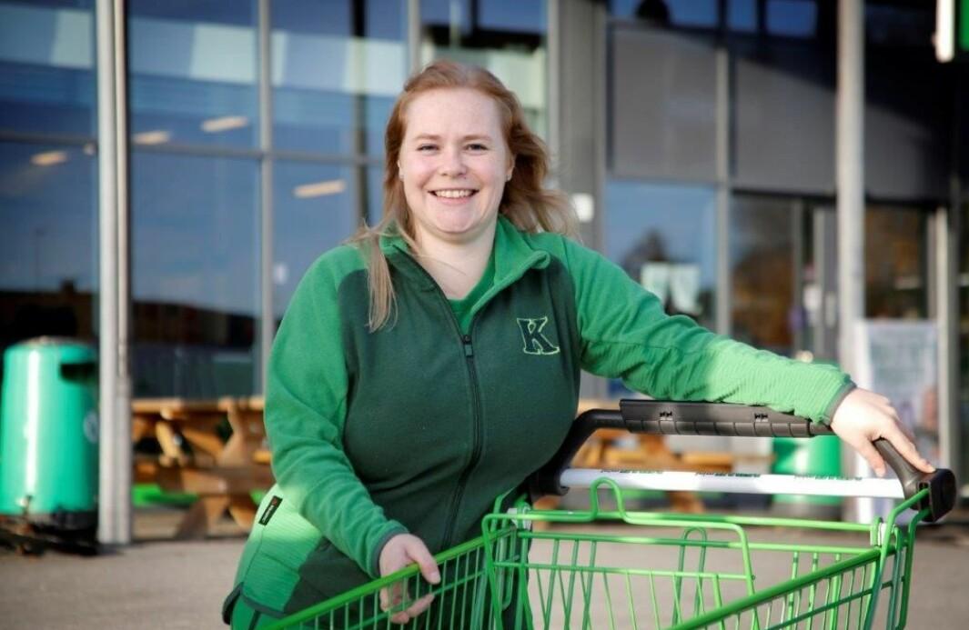 Marthe Ebbesen Sand, butikksjef Kiwi Gjemselund