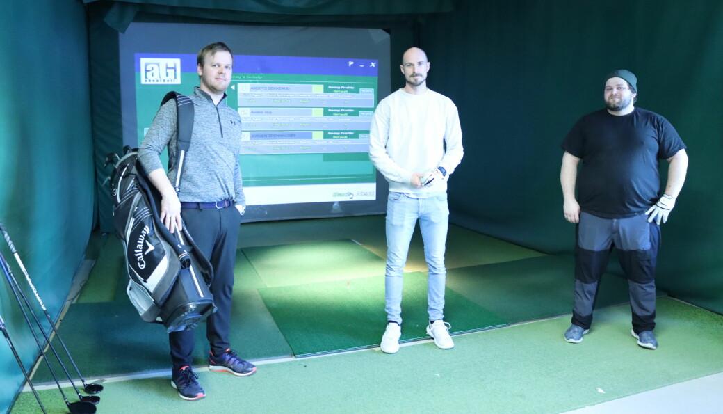 Anders Støp (t.v.), Anders Bekkerud og Jørgen Spenningsby er blant de som bruker Golfer'n i vintersesongen.