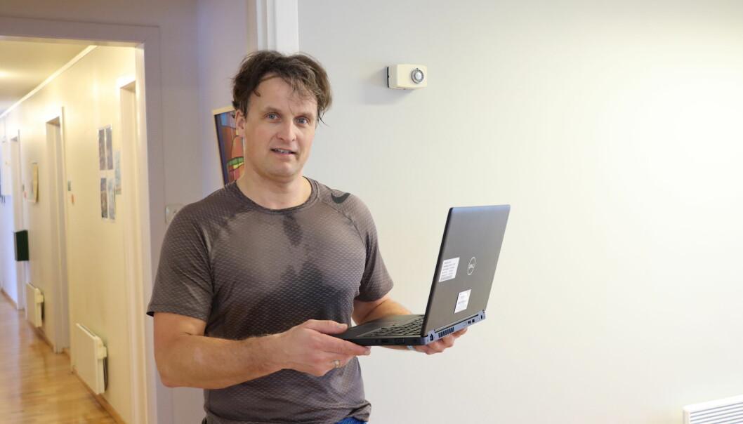 Svein Thore Gerhardsen har vendt seg til å holde treningsøktene på Facebook. Slik er det blitt.