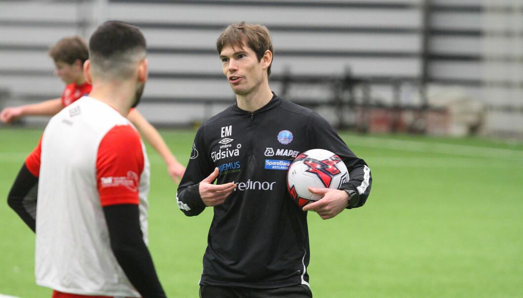 KILs hovedtrener Eirik Mæland synes det er godt å komme i gang med treningene igjen.