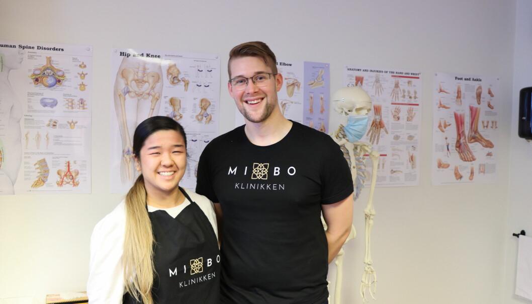 Bich-Kieu Nguyen og Magnus Hestbråten Ruud startet MiBo-klinikken i fjor.
