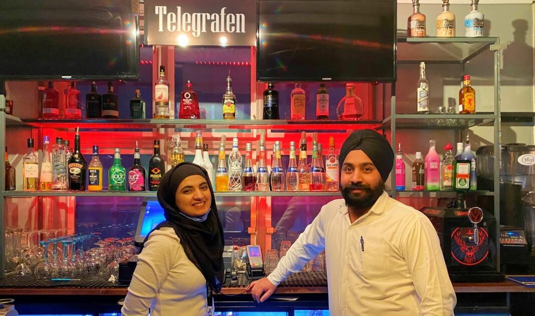 Telegrafen tilbyr nå indisk mat. Aisha Parveen og Sarvanjit Singh Sarhalia driver også indisk restaurant på Jessheim.