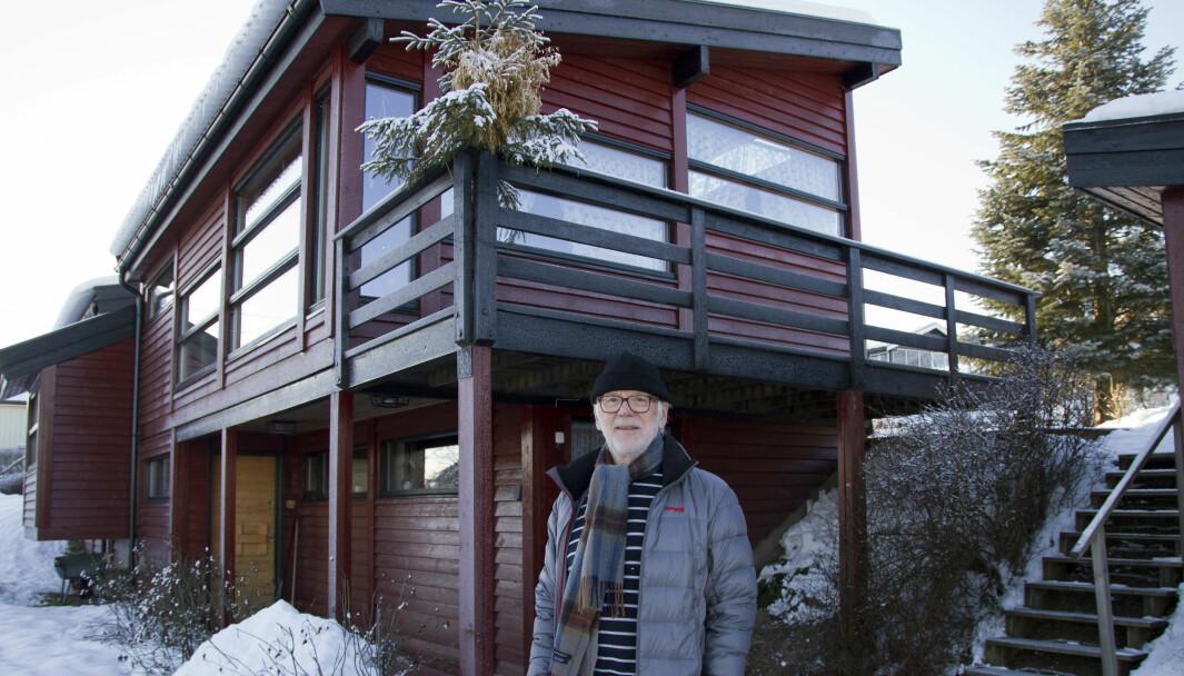 Denne eneboligen i Lia er den første Martinsen tegnet etter at han kom tilbake til Kongsvinger fra USA.