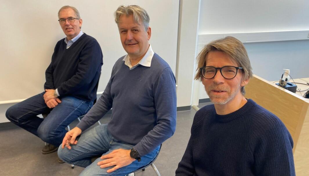 Klosser-lederne Lars Gillund, Stian Gulli Hansen og Werner Melby opplever økt interesse for næringsutvikling, og mener det er avgjørende at kommunene planlegger for framtida.