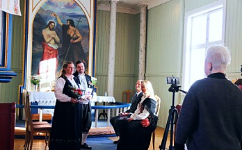 Suksess for drop-in-bryllup: Camilla og Morten benyttet seg av sjansen