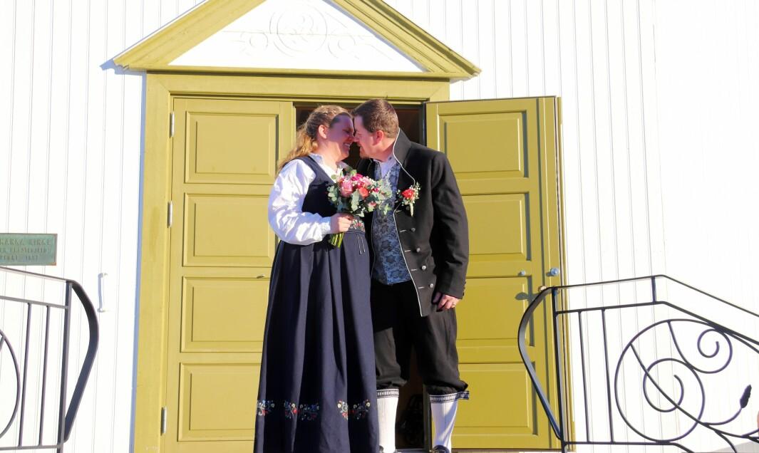 Camilla Lysholm og Morten Dalbakk valgte drop-in-bryllup i Austmarka kirke på valentinsdagen.