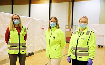 Vaksinering i hallen er i gang:— En avslutning på pandemien vi er i