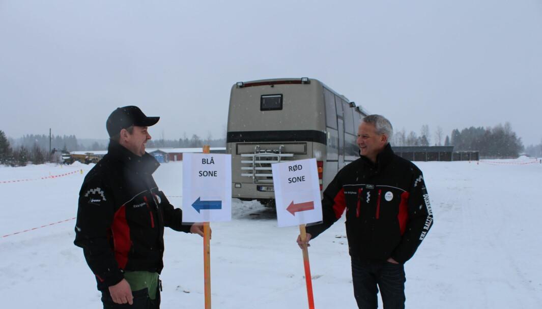 Assisterende løpsleder Kjetil M. Hansen og løpsleder Stig Rune Kjernsli sier de har tatt alle forehåndsregler for å være smittevernsbevisste.