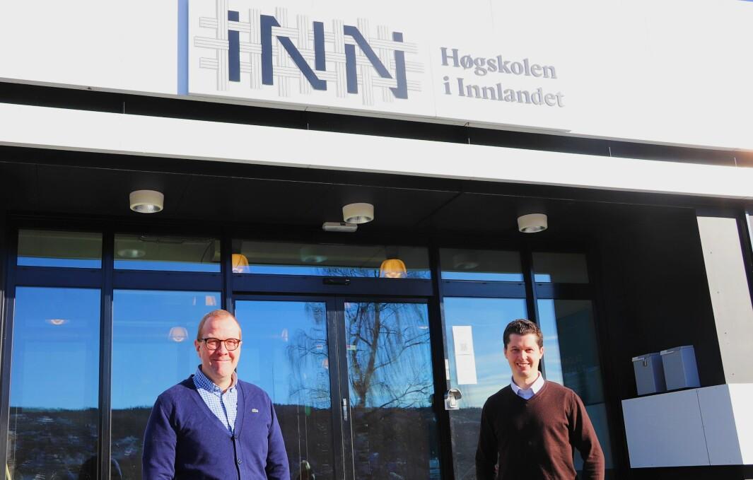 Daglig leder Vegard Herlyng og prosjektleder Anders Øverby ved Høgskolesenteret i Kongsvinger mener avtalen også vil gi et løft for høgskolen og Kongsvinger.