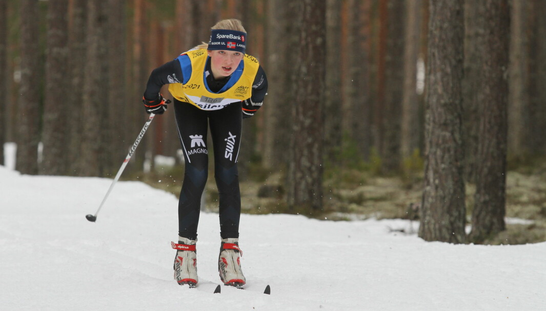 Dorthe Lillebekk, som bor i Kongsvinger og representerer Magnor UL. Lørdag ble hun kretsmester i klasse J14.