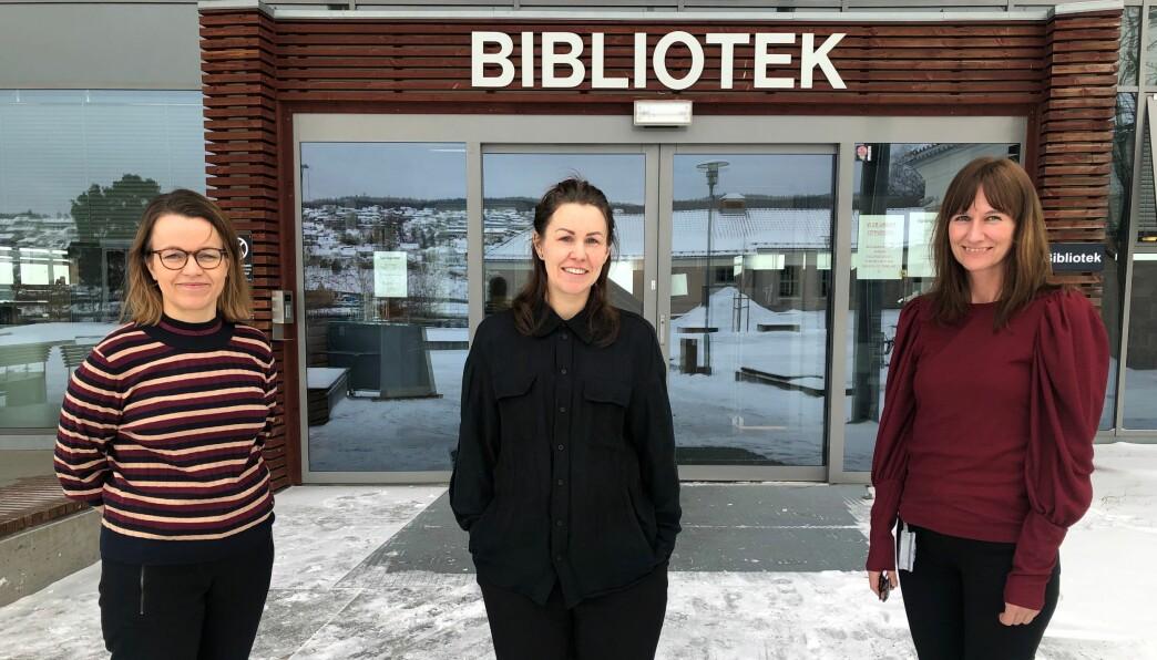 De vil sette Fake New på dagsorden. (Fra venstre) Marianne Olsen Brøntveit, Hanne Bjugstad og Stine Raaden inviterer til å øke kunnskapen vår om falske nyheter og kildekritikk.