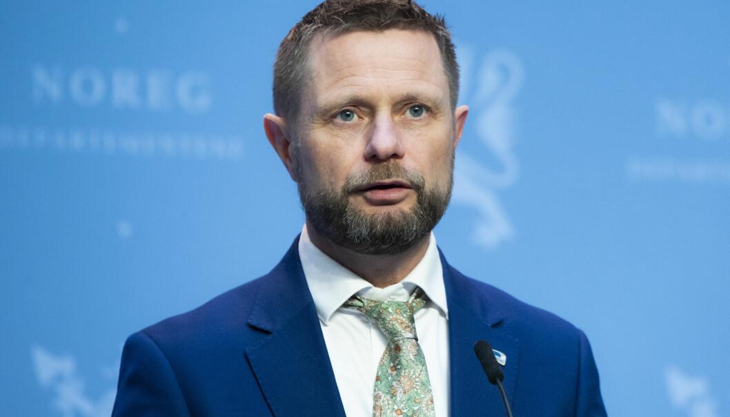 Pressekonferanse med helse- og omsorgsminister Bent Høie.