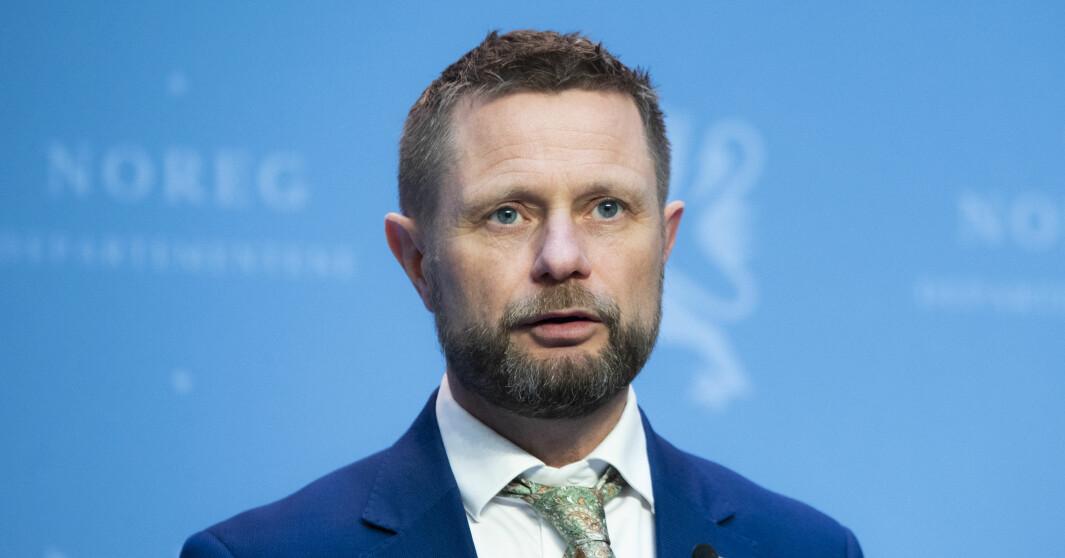 Pressekonferanse med helse- og omsorgsminister Bent Høie om vaksinestrategi.