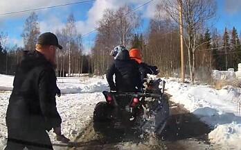 Villmannskjørte på hundebanen og krysset grensa til Sverige
