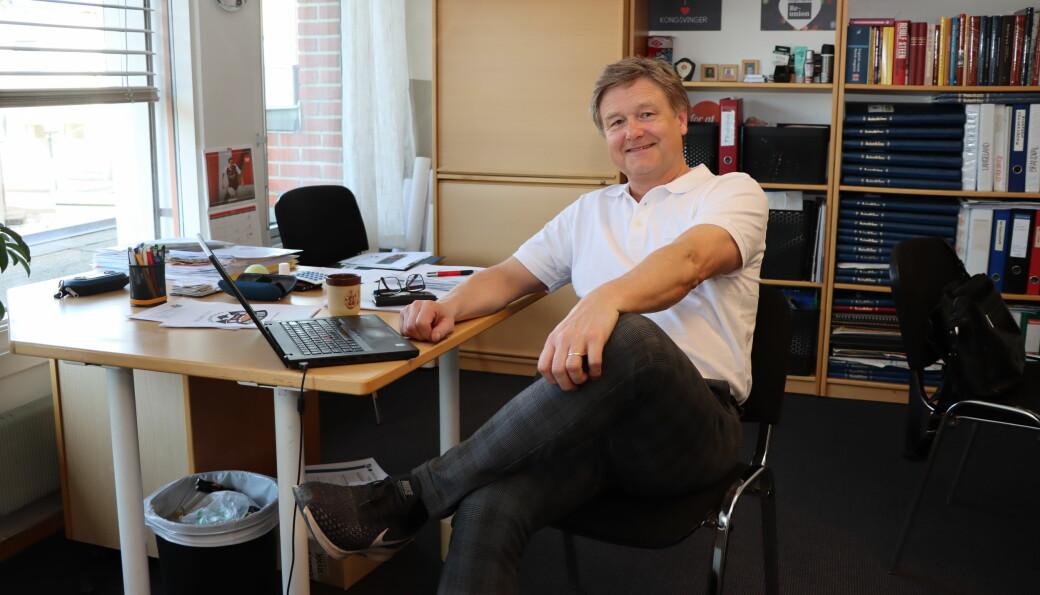 Uno Arnesen, daglig leder i Byen Vår, kunne registrere en markant omsetningsøkning av Kongsvingerkortet i 2020.