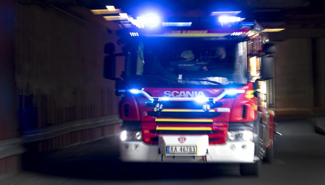 Brannvesenet måtte rykke ut til melding om brann i et fyrrom på Vennersberg.